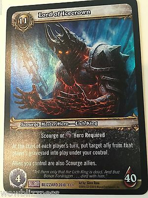 LORD OF ICECROWN - Blizzard EMPLOYEE FOIL BLIZZCON 2010 card 1/1 TCG Warcraft