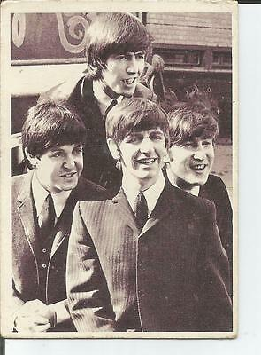 Rare Vintage 1964 Beatles Trading Card  No. 45 T.c.g.printed In Usa