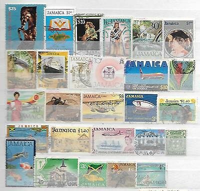 Jamaica Interesting Collection Of Old + New Stamps Bob Marley Stamp 23161116