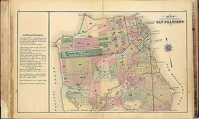 1876 San Francisco Atlas of the city and county land ownership plats DVD T5