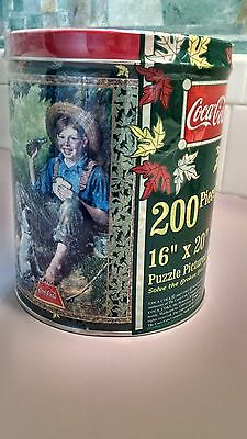"Coca-Cola jigsaw picture puzzle-NEW IN TIN-SEALED-16"" X 20""-Vintage 1998 USA!"
