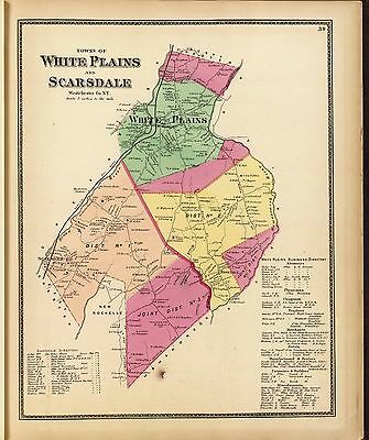 1868 PUTNAM WESTCHESTER COUNTY NEW YORK old maps GENEALOGY LAND OWNERS DVD P20