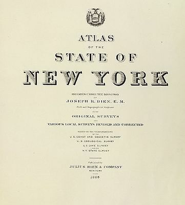 1895 NEW YORK STATE ATLAS maps GHOST TOWNS old GENEALOGY TREASURE HUNTING DVD S1