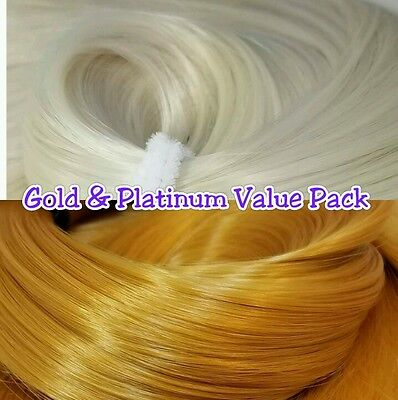 Platinum & Gold XL 4oz 2 Color Value Pak Nylon Hair Reroot Barbie Monster High