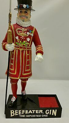 "Vintage Gin Beefeater Display 17"" tall"