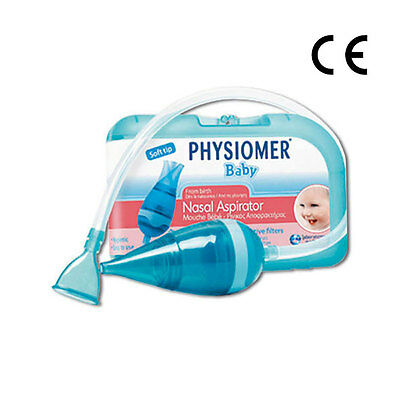 PHYSIOMER Baby Nasal Aspirator + Protective Filters No Bisphenol A, No Phtalates