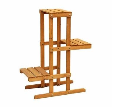 3-Tier Plant Garden Stand Wood Decorative Planter Holder Flower Pot Shelf Rack