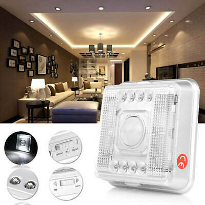 8 LED PIR Wireless Infrared Sensor Motion Detector Wall Night Light Lamp New