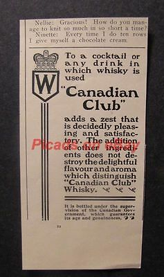 1900 Canadian Club Whisky Crown Cocktail Adds Zest
