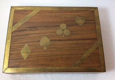 Wooden Inlaid Playing Card Case/box-Box Concepts Inc