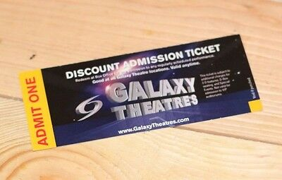 Galaxy theaters Movie pass Tickets valid dicount admission wholesale
