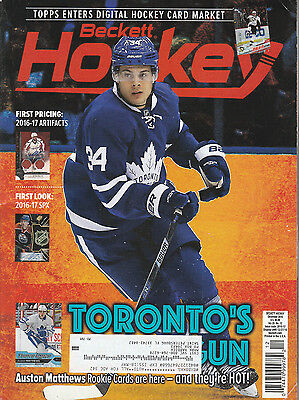 Beckett Hockey Card Monthly Price Guide Dec 2016 Austin Matthews Cover
