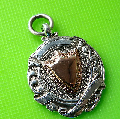 Old Silver & Gold  Watch Fob, Dated 1933
