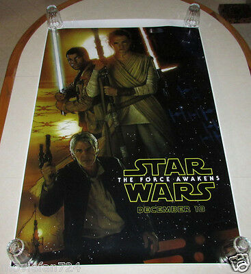 Star Wars The Force Awakens 27x40 D23 Expo Exclusive Drew Struzan Poster RARE!!