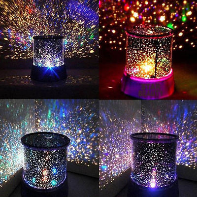 LED Starry Night Sky Projector Lamp Star light Cosmos Master Kids Gift Nice MA