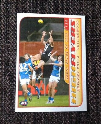 2006 AFL Heroes Sticker High Flyers- Anthony Rocca (Collingwood)