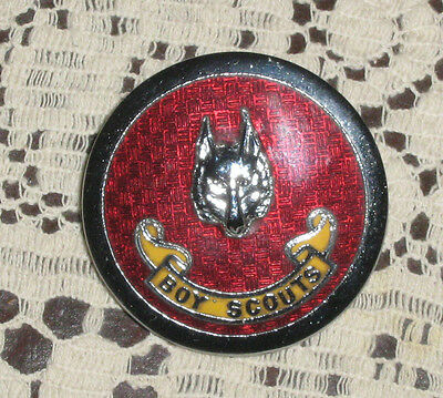 Old Boy Scouts Badge 1 1/2 Inches Across Stokes Melbourne Both Lugs Intact Nice