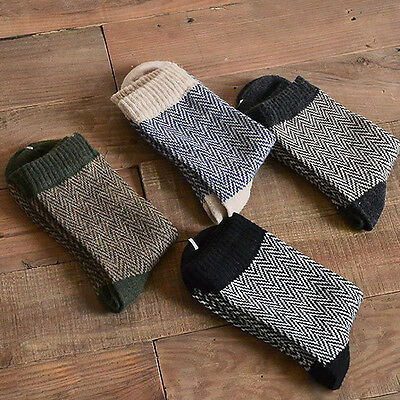 4Pairs Thick Angora Cashmere Casual Dress Men's Wool Mixture Warm Winter Socks