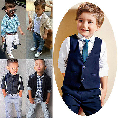 1Set Toddler Boy Kid Baby Outfits Gentleman Tops T-shirt Long Pants Formal Party
