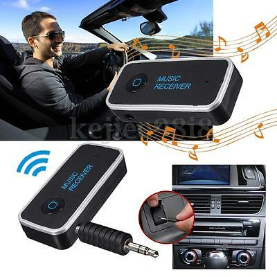 3.5mm Bluetooth Vivavoce AUX Musica A2DP Stereo Auto Audio Ricevitore Adattatore