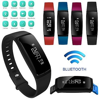 Waterproof Sport Smart Band Blood Pressure/Heart Rate Monitor Activity Tracker