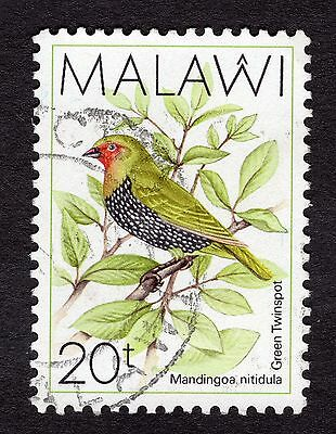 1988 Malawi Birds Green backed twin spot SG 796 FINE Used R30044
