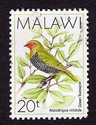 1988 Malawi Birds Green backed twin spot SG 796 FINE Used R30046