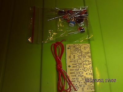 FM transmitter DIY kit with parts and PCB for soldering