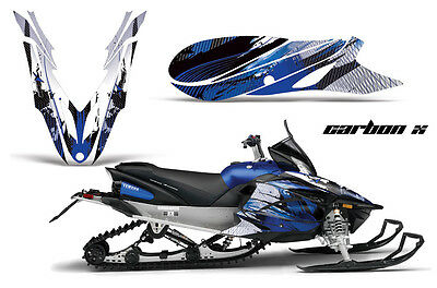 Yamaha Apex Graphic Kit Amr Racing Snowmobile Sled Wrap Decal 12-13 Carbon Blue