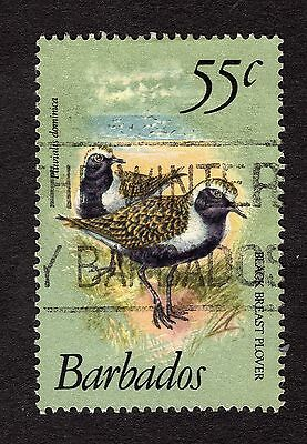 1979 Barbados 55c American golden plover SG633a FINE USED R31168