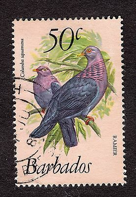 1979 Barbados 50c Red necked pigeon SG633 GOOD USED R31152