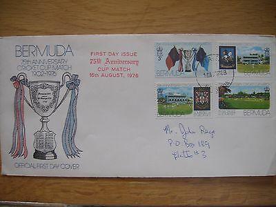 Bermuda First Day Cover 1976 - 75th Anniversary Cup Match (1976)