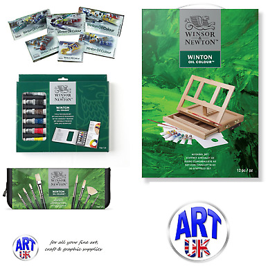 Winsor & Newton WINTON OIL COLOUR GIFT SETS artists introduction studio easel