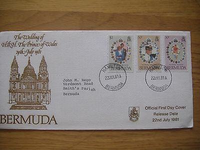 Bermuda First Day Cover 1981 - Wedding of HRH The Prince of Wales
