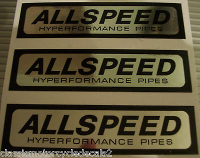 Allspeed Expansion Chamber Exhaust Decals X 3