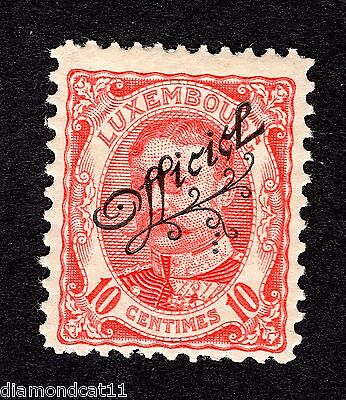 1908 Luxembourg 10c Red OPTD OFFICIEL SG O224 MOUNTED MINT R23778