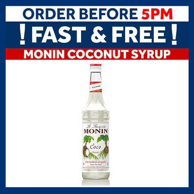 MONIN Coffee Syrups - 70cl Glass COCONUT Syrup - USED BY COSTA COFFEE