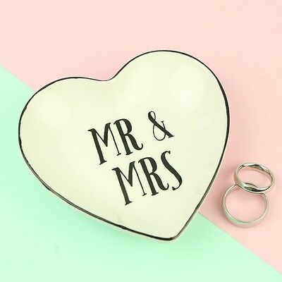 Ceramic Mr and Mrs Jewellery Dish