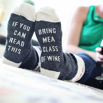 Custom wine socks If You can read this Bring Me a Glass of Wine gray, white, red