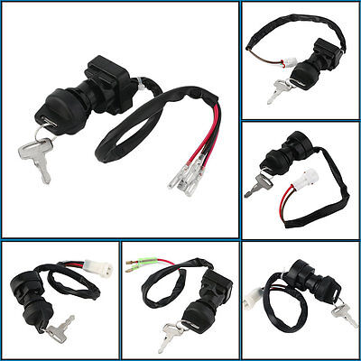 High Quality Ignition Key Switch With 2 Keys Set Black For Multiple Model PY