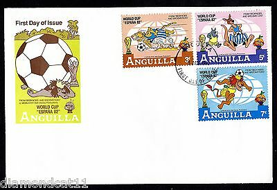 1982 Anguilla FDC 3/8/1982 World Cup Football FINE USED R27604