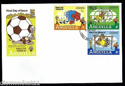 1982 Anguilla FDC 3/8/1982 World Cup Football FINE USED R27605