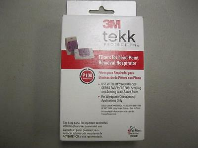 3m Tekk Protection Filters for Lead Paint 1 Pair Filters NEW