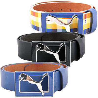 63% OFF RRP Puma Golf Mens Bunker Leather Belt Wide