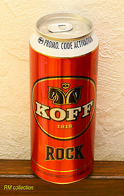 KOFF Rock 2015 Russian release beer 0,5L can bottom opened