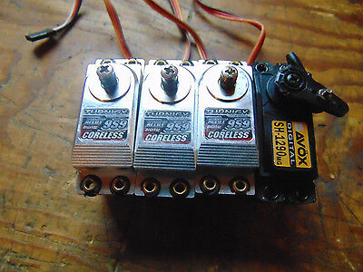 SET OF FOUR DIGITAL SERVOS 3x TURNIGY MG959 CORELESS 1x SAVOX SH-1290MG