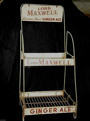 Rare LORD MAXWELL AMERICA'S Ginger Ale Metal DISPLAY RACK