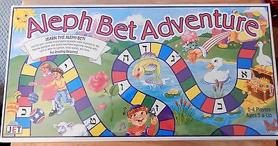 NIP Aleph Bet Adventure Sealed Board Game Ages 3+ Learn Hebrew Alphabet by JET