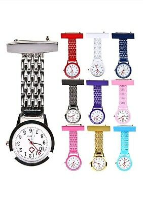 Brand New Nurse Doctor fob Brooch Best Stainless Steel Watch with FREE BATTERY