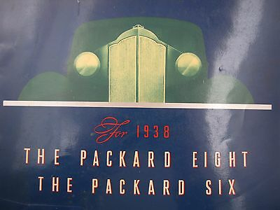 1938 PACKARD ORIGINAL SALES BROCHURE 8 and 6 TOURING BUSINESS CONVERTIBLE CLUB